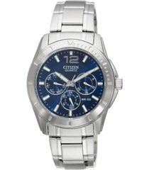citizen men's chronograph stainless steel bracelet watch 41mm ag8300-52l