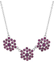 2028 silver-tone collar necklace