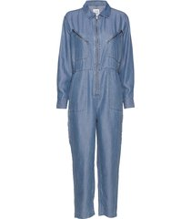 bondi tencel jumpsuit blauw line of oslo