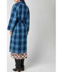 baum und pferdgarten women's dezie coat - won indigo - eu 40/uk 12
