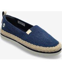 barcelona bay classic textile sandaletter expadrilles låga blå timberland