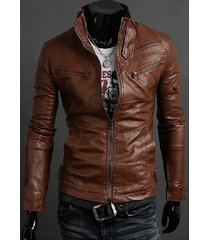 handmade mens slim fit browm leather jacket, men slim fit biker leather jacket