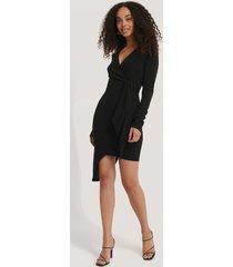 na-kd party asymmetric hem mini dress - black
