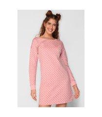 camisola malwee liberta curta bolinhas rosa