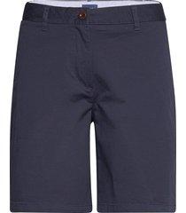 d1. slim classic chino shorts shorts chino shorts blå gant