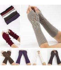 28.5cm maglia da donna a maglia lunga senza dita con maniche lunghe in jacquard inverno casual guanti