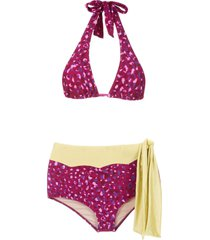 adriana degreas pomegranate hot pants bikini set - pink