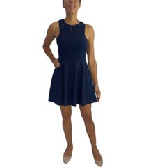 city studios juniors' cutout-back fit & flare dress