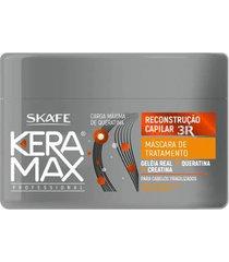 keramax reconstrução capilar 3r skafe - máscara de tratamento 350g