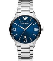 emporio armani giovanni three hand stainless steel watch