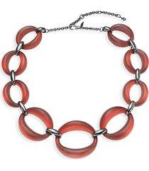 alexis bittar women's gunmetal-tone plated brass & lucite necklace