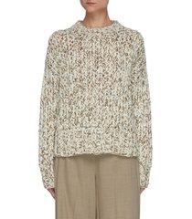 hand-knit wool sweater