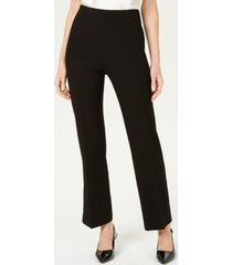 jm collection petite slit-leg crepe pants, created for macy's