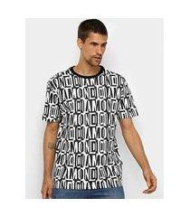 camiseta diamond jumbled tee masculina