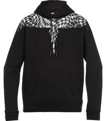 marcelo burlon cross piede de poule wings sweatshirt