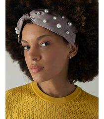 natural knot pearl headband