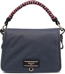 bally kyrah braided handle bag - blue