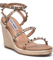 marebella sandal sandalette med klack espadrilles beige steve madden
