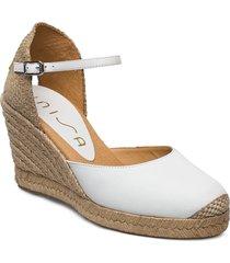 castilla_20_sty sandalette med klack espadrilles vit unisa