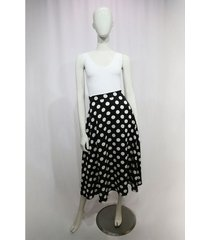 falda larga estampado polka dots