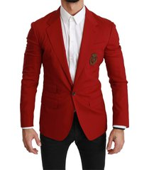 crown logo slim jacket blazer