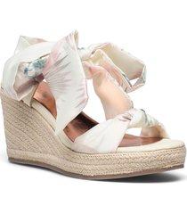 kelisan-serendipity sandalette med klack espadrilles vit ted baker