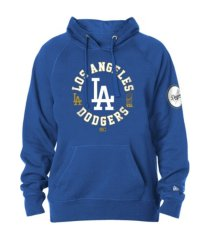 new era los angeles dodgers men's gold trophy fill hoodie