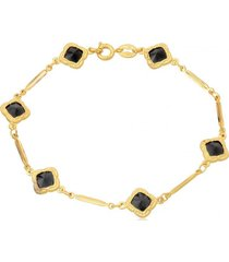 pulsera oro laminado black vanité