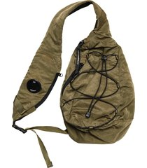 c.p company garment dyed nylon sateen shoulder bag |khaki| 199a-5269g 661