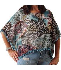 blusa turquesa spiga 31