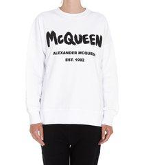 alexander mcqueen mcqueen graffiti sweatshirt