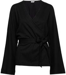 jaycee belted top blouse lange mouwen zwart filippa k