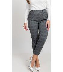 pantalon cuadro elásticado gris 609 seisceronueve