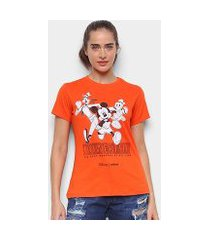 camiseta colcci mickey and friends feminina