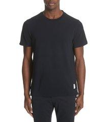 men's thom browne stripe crewneck t-shirt, size 4 - blue