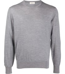 z zegna crew neck wool sweatshirt - grey