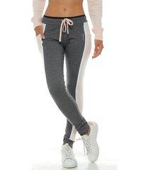 pantalon jogger, color negro cross para mujer