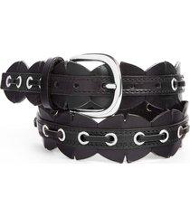 women's isabel marant tany leather cuts belt