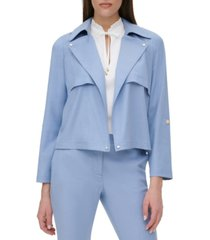 dkny cropped open-front jacket