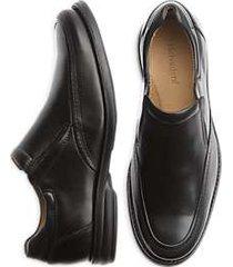 belvedere black torino slip-on dress shoes