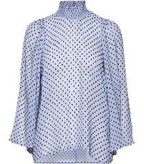 leiaiw blouse blouse lange mouwen blauw inwear