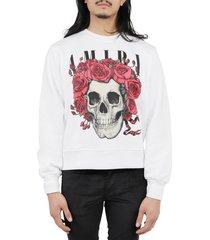 amiri white grateful dead skull sweatshirt