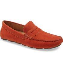 men's nordstrom bermuda driving loafer, size 10.5 m - orange
