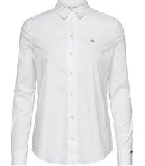 slim shirt ls overhemd met lange mouwen wit calvin klein