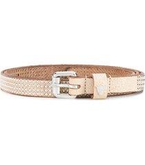 htc los angeles studded belt - brown