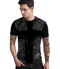 camiseta stompy dark cross masculina