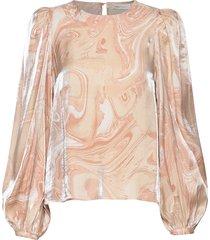 cherieiw blouse blus långärmad rosa inwear