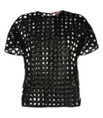 nº21 camiseta mangas curtas com tela - preto