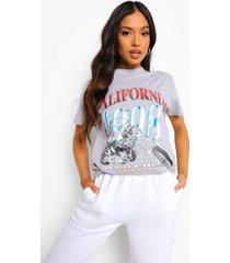 petite oversized beverly hills t-shirt, grey marl
