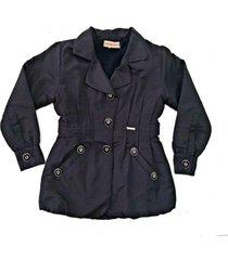 casaco doc kids maze ii preto - preto - feminino - poliã©ster - dafiti